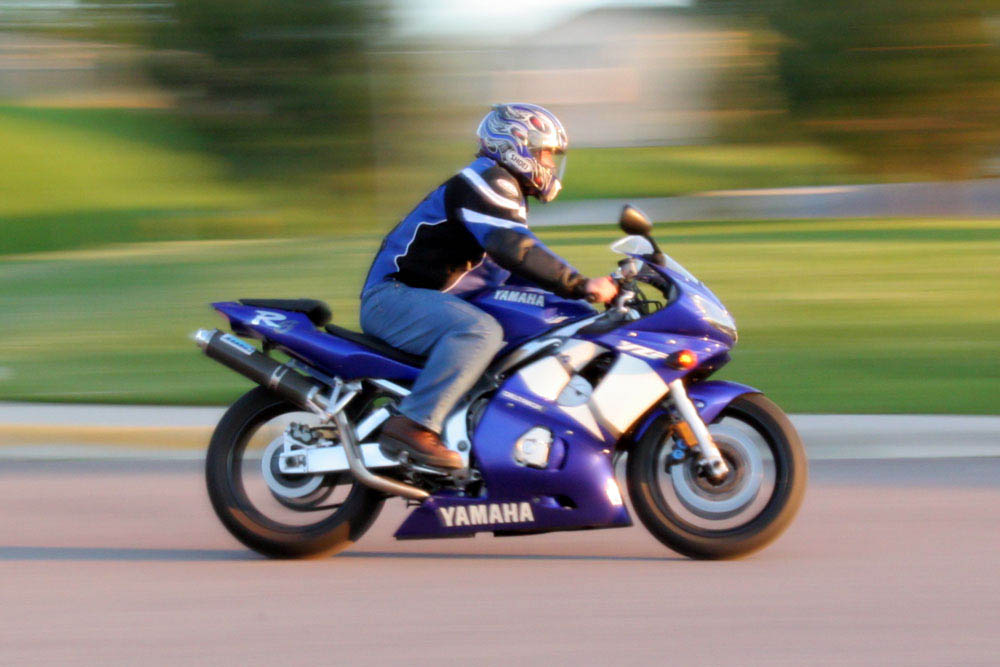Motorcycle motion blurr photo Montana Photographer MT